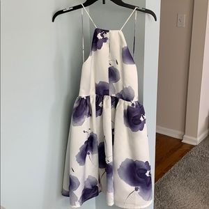 Lulus White & Purple Floral Dress 💜